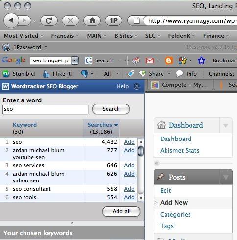 SEO Tools: Wordtracker's